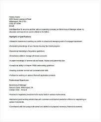 Bank Account Manager Resume Resume For Manager Position Many Of