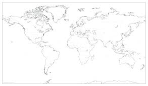 Map Of The World For Kids To Color Best Photos Big Earth Template