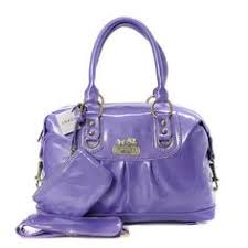 Coach Madison In Smooth Medium Purple Satchel