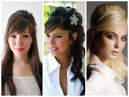 Wedding Half Up Hairstyles Half Up Hairstyles Bridal Hairstyles With Bangs Wedding Hairstyles