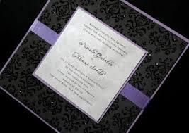 Black And Purple Invitations Wedding Invitations Ideas Purple And Black Wedding