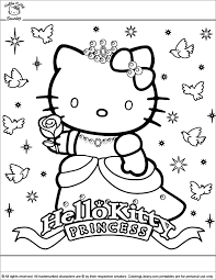They love hello kitty coloring pages as these allow them to spend some quality time with their favorite cute bobcat while playing with colors and shades. Hello Kitty Printable Coloring Page Coloring Library