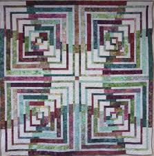 Log Cabin Quilt Pattern Using 2 1 2 Inch Strips