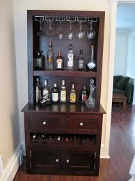 Wine Carts Cabinets Custom Liquor Cabinet With Glass Racks Open Shelving Integrated