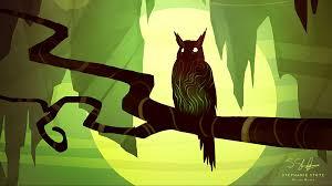 2048x1152 owl, art, branch, bird ...