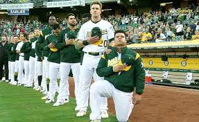 Image result for MLB, kneeling during national anthem