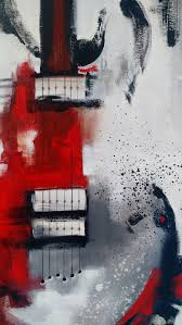 guitar painting abstract painting red white by heatherdaypaintings on guitar canvas wall art red with guitar painting abstract painting red white black painting