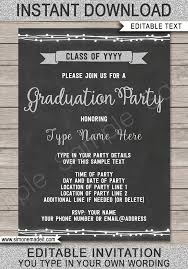 Graduation Announcements Template Graduation Party Invitation Template Silver