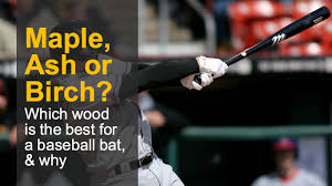 birch vs maple vs ash bats which type of wood is best for your baseball bat why