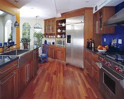 Modern wood floor designs Herringbone Modern Contemporary Hi Tech Kitchen Home Flooring Pros Benefits And Drawbacks Of Hardwood Floor In Kitchen