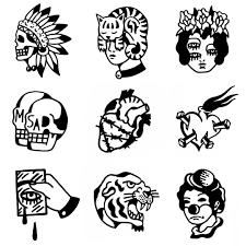 принты принты черная татуировка эскиз тату и тату минимализм