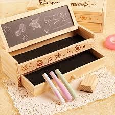 creative office supplies. Creative Stationery Multi-function Wooden Diy Small Blackboard Pencil Case Storage Box School Office Supplies O