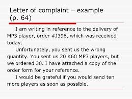 letter of complaint gladys hung spring letter of complaint  2 letter