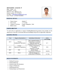 Resume Welding Engineer