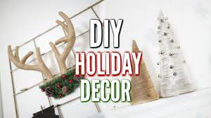 Diy Holiday Room Decor Minimal Simple Youtube