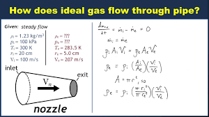 example mass conservation for ideal gas flow through pipe