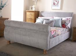 Chicago Silver Double Sleigh Bed Frame | Sleigh bed frame, Bed ...