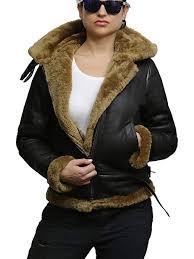 new brown brandslock womens genuine shearling sheepskin leather jacket hooded ilawlu