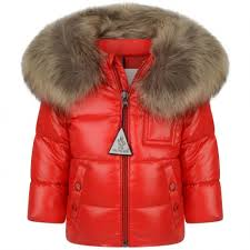 Moncler Red Down Padded K2 Baby Coat