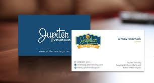 Business Card Vending Machine Impressive Modern Professional It Company Business Card Design For Jupiter