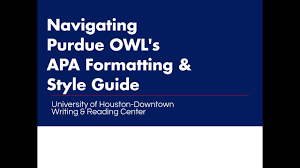 Purdue Owl Apa University Of Houston Downtown