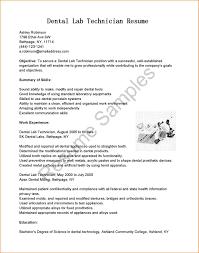 8 Dental Lab Technician Resume Example Statement Synonym
