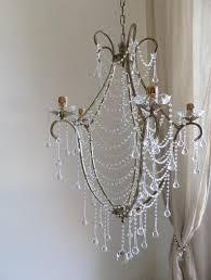 Vogelkäfig Antik Gold Kristall Kronleuchter Klare Murano Glaskristallen Tropfen Und Ketten Shabby Chic Stil