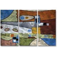 picasso reincarnate abstract handmade metal wall art trio on village rectangular wall art with oversized large metal wall art decor sculptures clocks more
