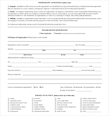 Application Forms Sample Membership Application Form Template 12 Sample Membership