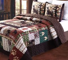 Total Fab: Rustic Lodge Log Cabin Themed Bedding Sets & Budget-Friendly Log cabin Mountain Retreat Style Bedding: Rustic Hunting  Moose Lodge Quilt Set Adamdwight.com