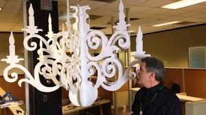 How to make chandeliers Shell Chandelier Youtube Making Paper Chandeliers Youtube