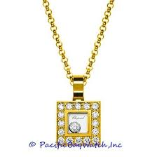 chopard small diamond square pendant