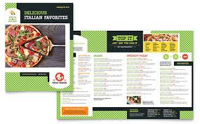 Pizza Parlor Menu Template Word Publisher