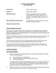 It Director Jobption Template Example Mesmerizing Regional Sales