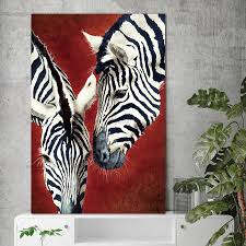 canvas painting wall art zebra animal nordic abstract