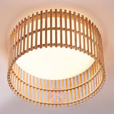 fantastic led ceiling lamp leja with bamboo sticks