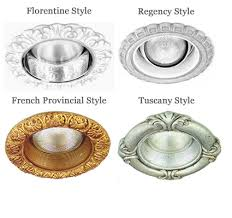 different lighting styles. decorative recessed lighting trims in 4 different styles o