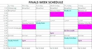 Exam Revision Timetable Template Timetable Template Word Download Blank Weekly Study Schedule