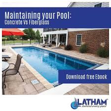 difference in maintenance between concrete and fiberglass pools