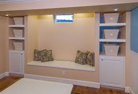 image of built in basement storage ideas