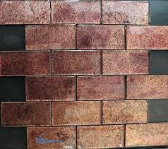 brown glass subway tile brick color glass mosaic tile subway brick travertine subway glass kitchen backsplash