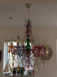 retro vintage shabby chic chandelier
