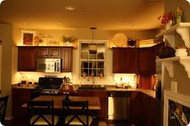 Attractive Lighting Over Kitchen Cabinets   Thrifty Decor Chic