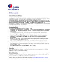 Sample Cover Letter For Human Resource Generalist Position