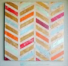 Cool canvas painting ideas projects using tape