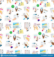 Agenda List Agenda List Concept Vector Illustration Seamless Pattern