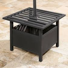 patio umbrella stand side table outdoor furniture design