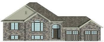 raised bungalow house plans brick home