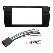 bmw e46 wiring harness adapter cdc wiring library get quotations · dkmus dash installation trim kit for bmw 3 series m3 e46 facia double