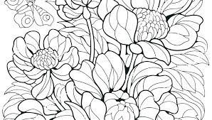 Free Coloring Pages Flowers Butterfly Printable And Small Of